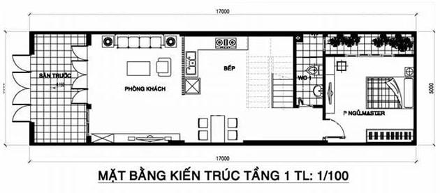 Ban Ve Thiet Ke Nha 3 Tang 5x17m