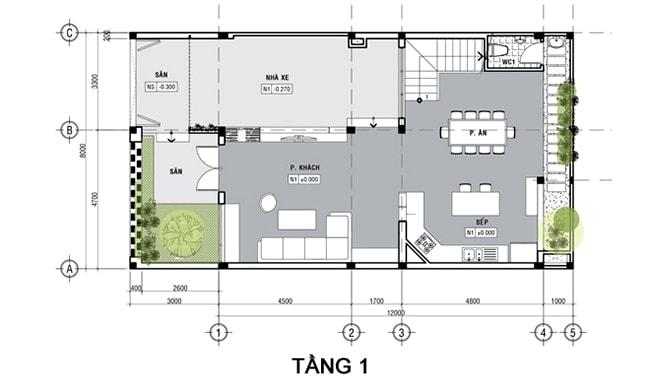 Mau Nha 3 Tang Mat Tien 8m 6