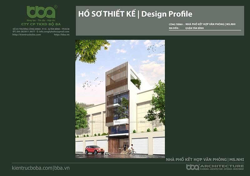 Thiet Ke Nha Pho Ket Hop Van Phong Ms Nhi