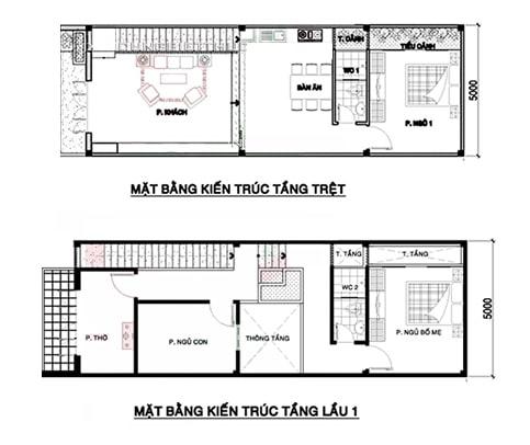 Ban Ve Thiet Ke Nha 2 Tang 5x15 5
