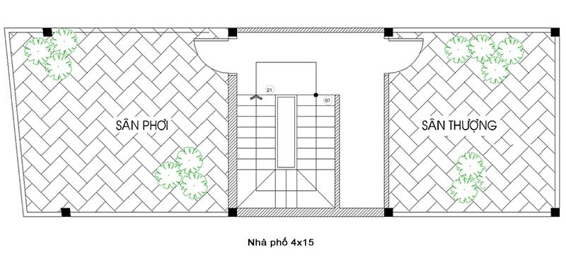 Ban Ve Thiet Ke Nha Pho 5