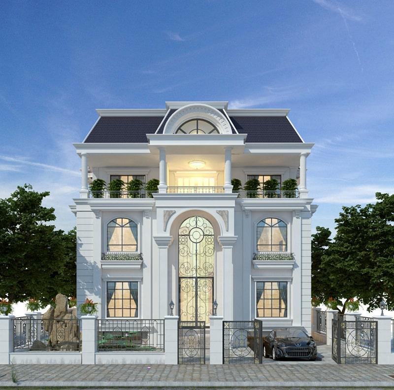 Mẫu biệt thự kiểu Pháp