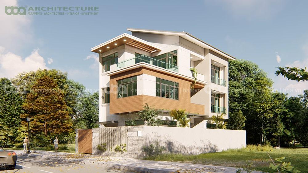 Thiết kế biệt thự 3 tầng mái lệch Mr Thái | Khu dân cư Happy City | Bình Chánh