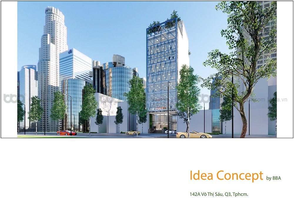 Thiết kế tòa nhà văn phòng hiện đại Võ Thị Sáu | Quận 3