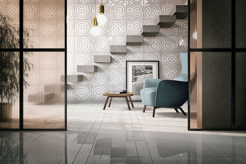 Mẫu gạch ốp tường phòng khách