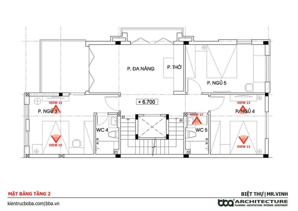 Biệt thự tân cổ điển 3 tầng 1 tum
