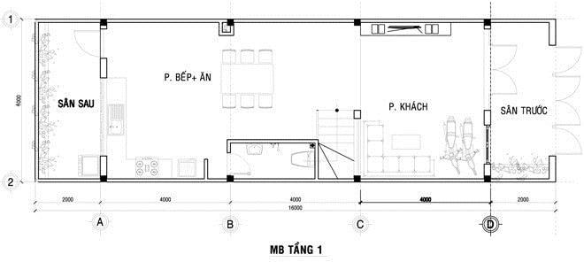 Mẫu nhà ống đẹp 3 tầng 4x12m