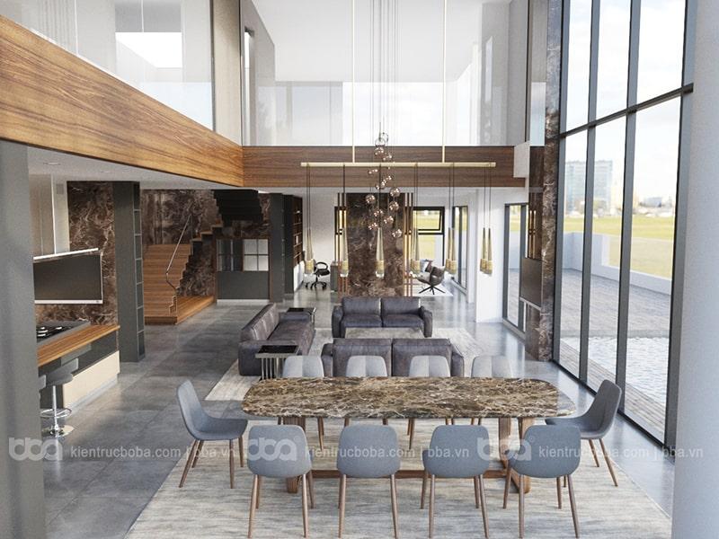 Thiết kế nội thất căn hộ Penthouse