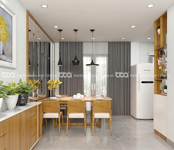 Thiết kế nội thất nhà 2 tầng 45m2