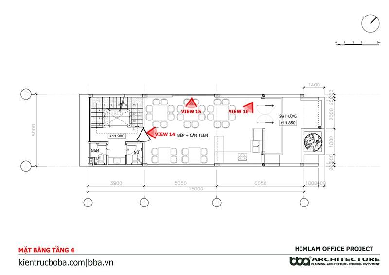 Mẫu thiết kế văn phòng 5x15