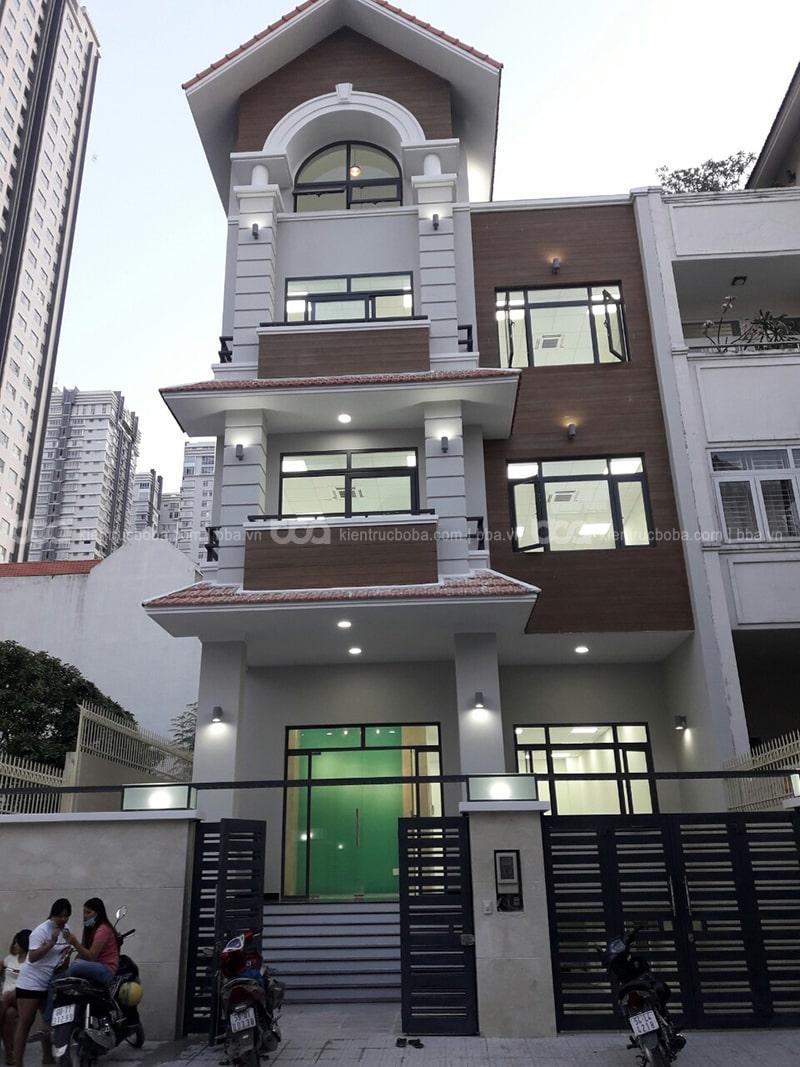 Mẫu thiết kế nhà phố có tầng hầm chìm