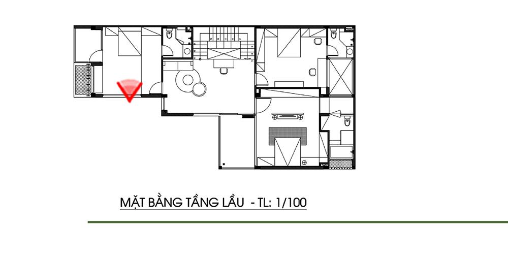 Mẫu thiết kế biệt thự góc 3 tầng 2 mặt tiền