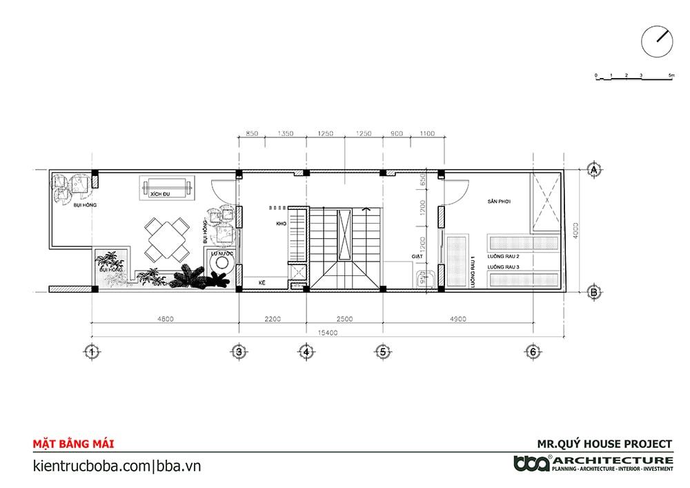 Thiết kế nội thất nhà nang 4m dài 15mThiết kế nội thất nhà nang 4m dài 15m