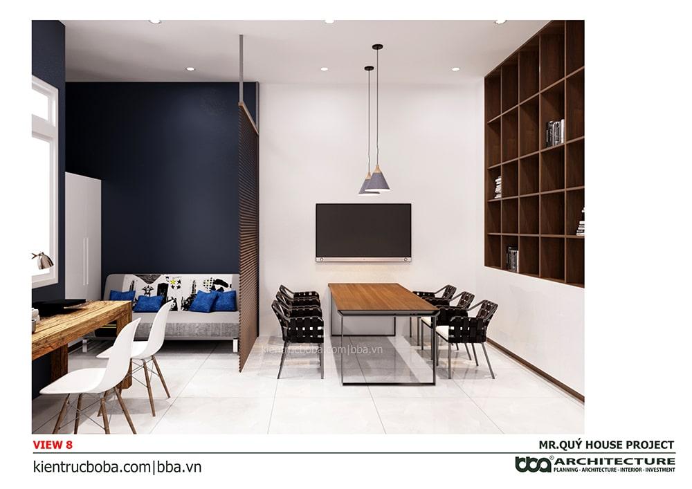 Thiết kế nội thất nhà nang Thiết kế nội thất nhà nang 4m dài 15m4m dài 15m
