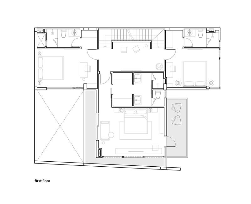 Bản vẽ biệt thự mái bằng hiện đại