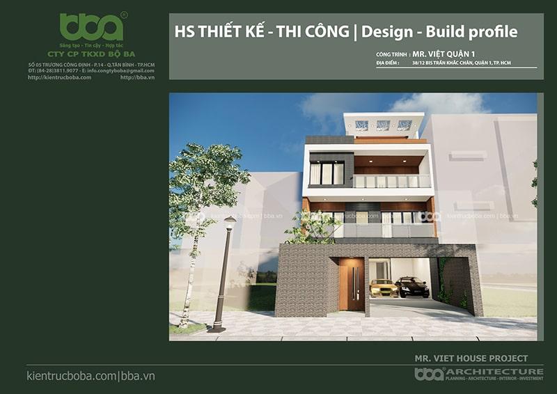 Thiết kế biệt thự hiện đại anh Việt | Quận 1 | Tp.HCM