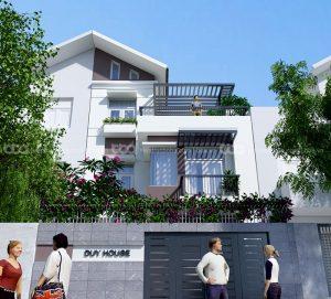 Mẫu thiết kế kế biệt thự phố 7x16m